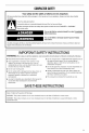 Maytag MTUC7500ADM0 Use & care manual - Page 3