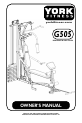 York Fitness G505 Owner's manual - Page 1