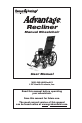 E&J Advantage Recliner Operation & user's manual - Page 1