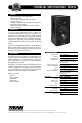 EAW FR159z Technical specifications - Page 1
