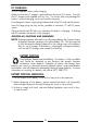 Vector VEC146 Owner's manual & warranty - Page 4