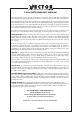 Vector VEC146 Owner's manual & warranty - Page 8