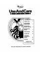 Whirlpool LLR8233BN0 Use and care manual - Page 1