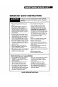 Whirlpool LLR8233BN0 Use and care manual - Page 3