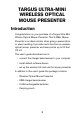 Targus Ultra-Mini Wireless Optical Mouse Presenter Operation & user's manual - Page 3