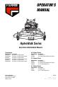Ferris Hydrowalk Series DDSKAV15CE Operator's manual - Page 1