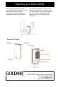Goldair GD330 Operating instructions manual - Page 3