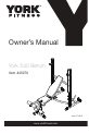 York Fitness 45070 Owner's manual - Page 1