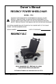 GENDRON REGENCY XLC 7700 Owner's manual - Page 1