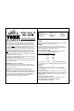 York Fitness 401 Assembly instructions manual - Page 2